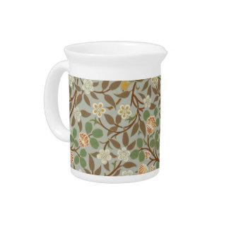 Vintage William Morris Clover Floral design Beverage Pitcher