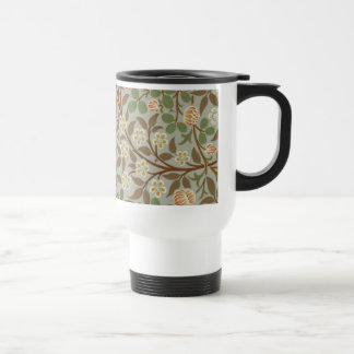 Vintage William Morris Clover Floral design Travel Mug