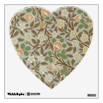 Vintage William Morris Clover Floral Design Wall Sticker