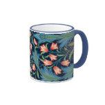 Vintage William Morris Floral Pattern Coffee Mugs