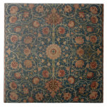 """Vintage William Morris Holland Park Carpet Ceramic Tile<br><div class=""""desc"""">The design on this product is inspired by &quot;Holland Park Carpet&quot; a late 19th century textile rug designed by William Morris an English textile designer, poet novelist, translator, and social activist who lived from 1834 to 1896. Morris was a major contributor to the revival of traditional British textile arts and...</div>"""