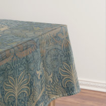 Vintage William Morris Peacock and Dragon Tablecloth