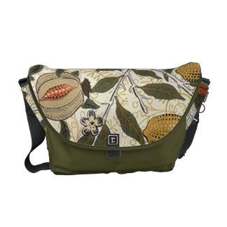 Vintage William Morris Pomegranate Messenger Bag