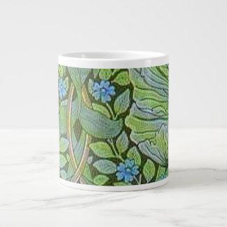 Vintage William Morris Pre Raphaelite Floral Art Large Coffee Mug