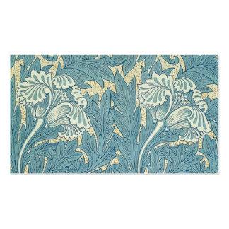 Vintage William Morris Tulip Floral Design Double-Sided Standard Business Cards (Pack Of 100)