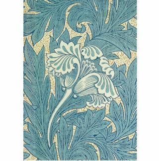 Vintage William Morris Tulip Floral Design Cutout
