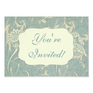 Vintage William Morris Tulip Floral Design 4.5x6.25 Paper Invitation Card