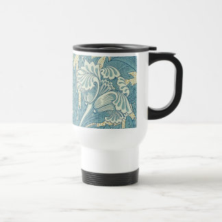 Vintage William Morris Tulip Floral Design Travel Mug