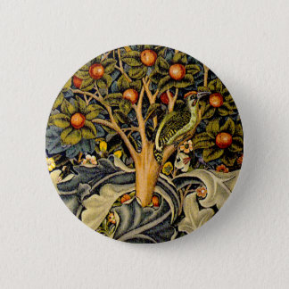 Vintage William Morris Woodpeckers Button