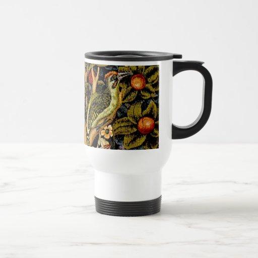 Vintage William Morris Woodpeckers 15 Oz Stainless Steel Travel Mug