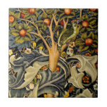 Vintage William Morris Woodpeckers Small Square Tile