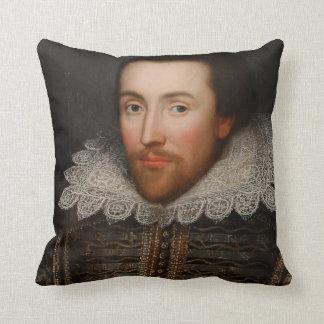 Vintage William Shakespeare Portrait Throw Pillow