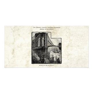 Vintage Williamsburg Brooklyn Bridge New York City Card
