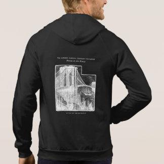 Vintage Williamsburg Brooklyn Bridge New York City Hooded Pullover