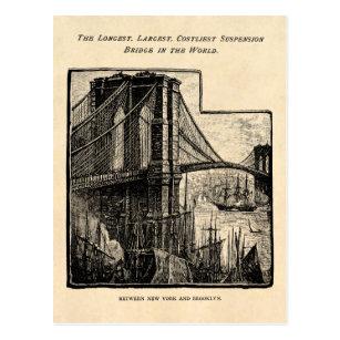 Williamsburg bridge postcards zazzle vintage williamsburg brooklyn bridge new york city postcard reheart Images