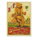 Vintage Williams's new Cream Toffee Ad Poster