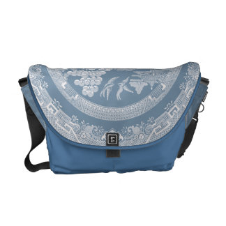 Vintage Willow Pattern Courier Bag