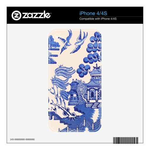 Vintage Willow Pattern Skin For The iPhone 4S