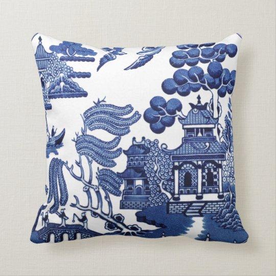 Vintage Willow Pattern Throw Pillow Zazzle Com