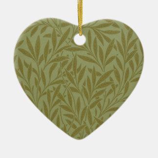 Vintage Willow William Morris Wallpaper Design Ceramic Ornament
