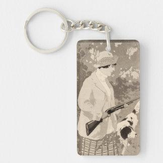 Vintage Winchester Firearms Sportswoman Keychain