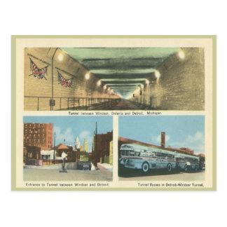 Vintage Windsor Ontario y Detroit Michigan Tarjetas Postales