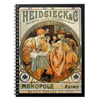Vintage Wine Ad 1901 Notebook