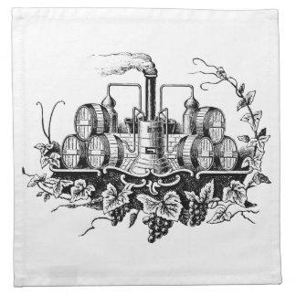 Vintage Wine Barrels Cocktail Napkins