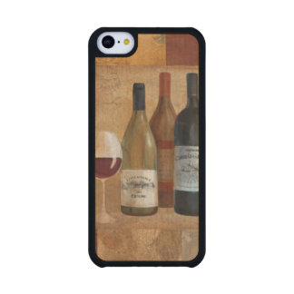 Vintage Wine Bottles and Wine Glass Carved® Maple iPhone 5C Case