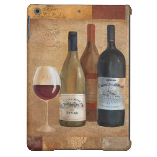 Vintage Wine Bottles and Wine Glass Cover For iPad Air