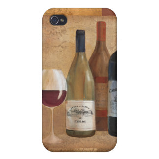 Vintage Wine Bottles and Wine Glass iPhone 4 Case