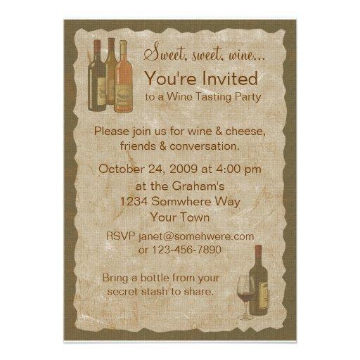 Vintage Wine Bottles Invitation