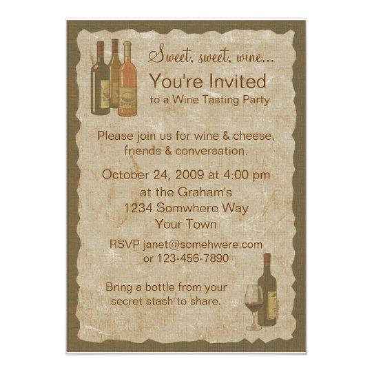vintage wine bottles invitation. Black Bedroom Furniture Sets. Home Design Ideas
