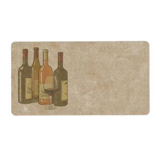 Vintage Wine Bottles Label