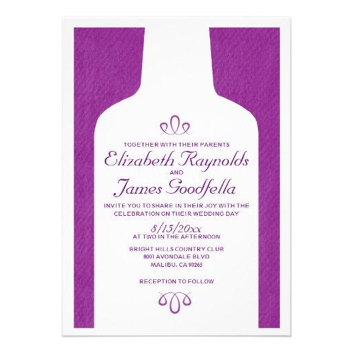 Vintage Wine Bottles Wedding Invitations