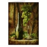 Vintage wine Card