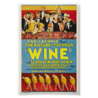 Vintage Wine Cinema Poster