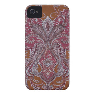 Vintage Wine Copper Damask BlackberryBold 97009780 iPhone 4 Cover
