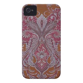 Vintage Wine Copper Damask BlackberryBold 97009780 iPhone 4 Cover