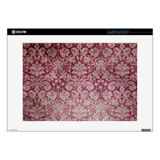 "Vintage Wine Damask 15"" Laptop Skin"