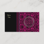 Vintage Wine Damask and Celtic Knot Sleeves Business Card