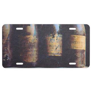 Vintage Wine License Plate