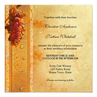 Vintage Wine or Vineyard Theme Wedding Invitation