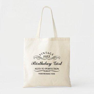 birthday Vintage Wine Person Funny Birthday Gift Bag