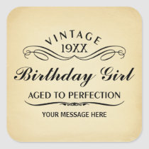 Vintage Wine Person Funny Birthday Sticker