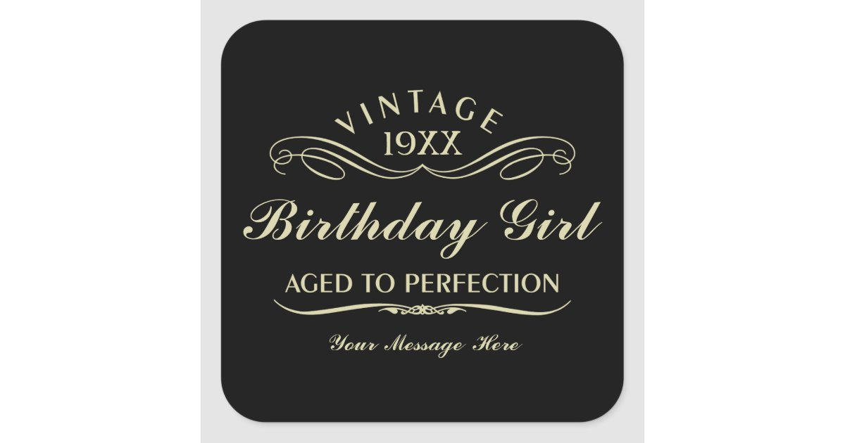 Vintage Wine Person Funny Black Birthday Sticker Zazzle