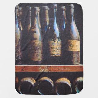 Vintage Wine Receiving Blanket