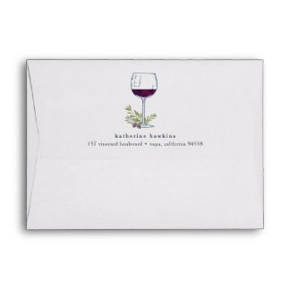 Vintage Wine | Return Address A6 Envelope