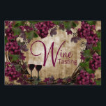 "Vintage Wine Tasting Party Winery Wine Tasting Yard Sign<br><div class=""desc"">Wine tasting yard sign with pretty vintage grapes,  grape leaves,  vines and wine glasses on a vintage background. You can personalize this vintage yard sign for your event by simply adding the text of your choice in the font style you prefer.</div>"