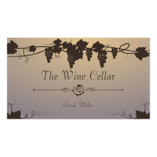 Vintage Winery Business Card - Grape Vine Wine